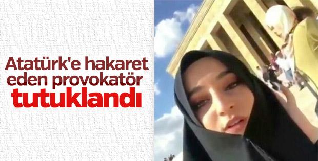 Atatürk'e hakaret eden provokatör tutuklandı