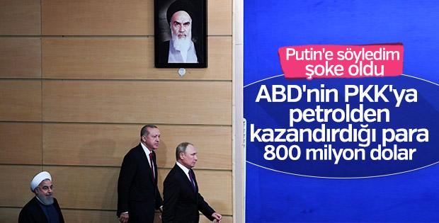 Erdoğan: ABD YPG'yi petrolle besliyor