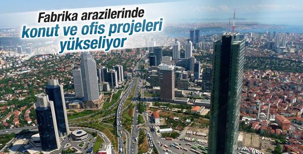 Fabrika arazilerinde konut ve ofis projeleri yükseliyor