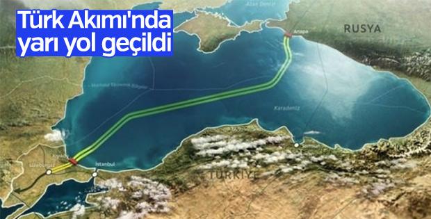 Türk Akımı projesi yolu yarıladı