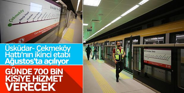 Üsküdar-Çekmeköy Hattı'nın 2'inci etabında test sürüşü başladı