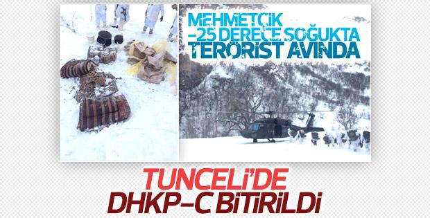 Tunceli'de terör örgütü DHKP-C'ye büyük darbe