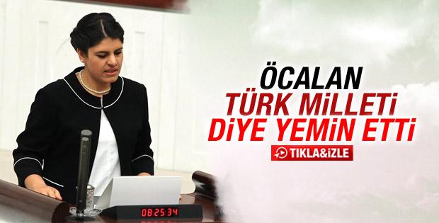 Dilek Öcalan TBMM'de yemin etti İZLE