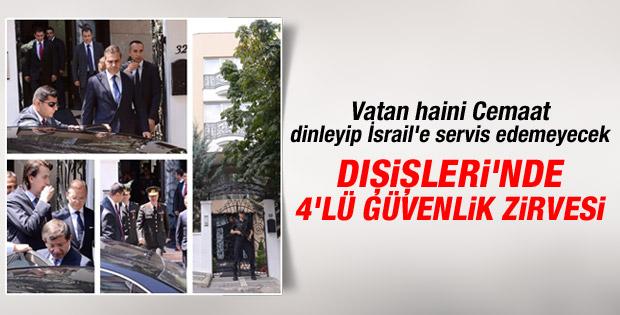 Ankara'da 4'lü güvenlik zirvesi