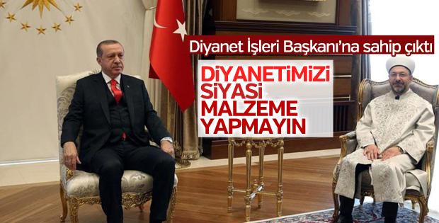 Erdoğan Ali Erbaş'ın tartışılan ziyareti hakkında konuştu