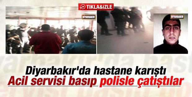 Diyarbakır'da cezaevi firarisi öldü hastane karıştı İZLE