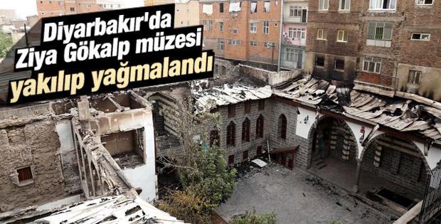 Diyarbakır'da Ziya Gökalp Müzesi yakıldı İZLE