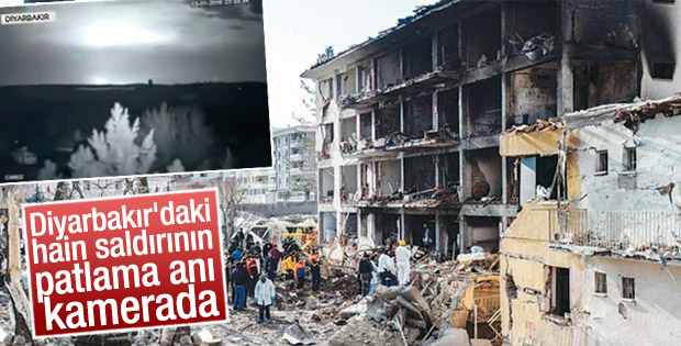 Diyarbakır'daki saldırı anının MOBESE görüntüsü