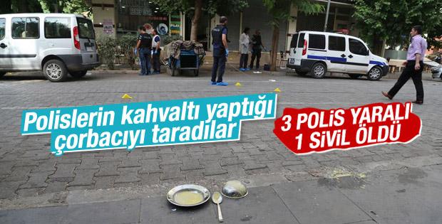 Diyarbakır'da çorba içen polislere saldırı: 3 polis yaralı