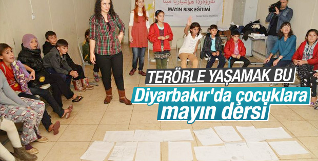Diyarbakır'da çocuklara mayın dersi