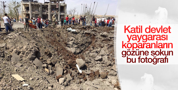 Diyarbakır'daki saldırıda 10 metrelik çukur oluştu