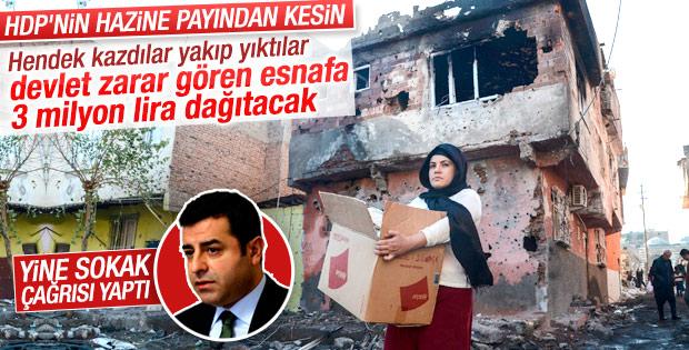 Terörden zarar gören esnaf için 3 milyon lira bütçe