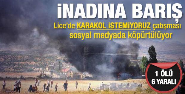 Diyarbakır Lice'de gerginlik