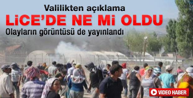 Diyarbakır Valiliği'nden Lice olayları için açıklama