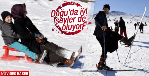 Siverek'te kayak sezonu açıldı