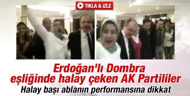 AK Parti teşkilat toplantısında Dombra halayı - izle