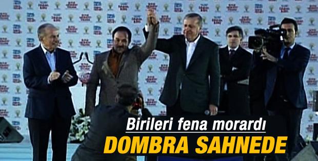 Dombra'nın sahibi Yenikapı mitingine katıldı