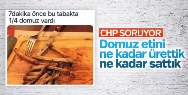 CHP'nin gündeminde domuz etleri var
