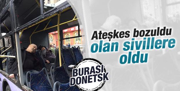 Ukrayna'ya otobüs durağına bombalı saldırı