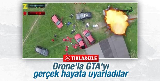 Drone'la GTA'yı gerçek hayata uyarladılar