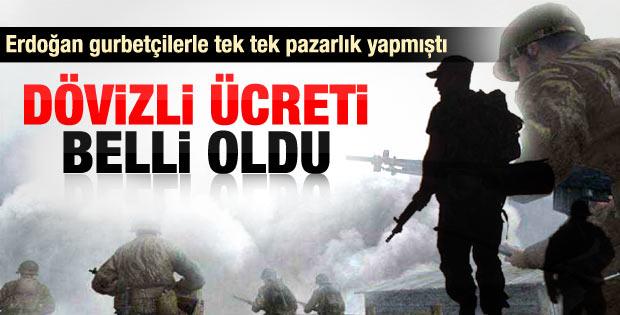 Dövizli askerlik 6 bin euroya düşecek
