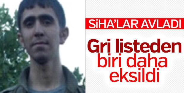 Öldürülen terörist gri listeden