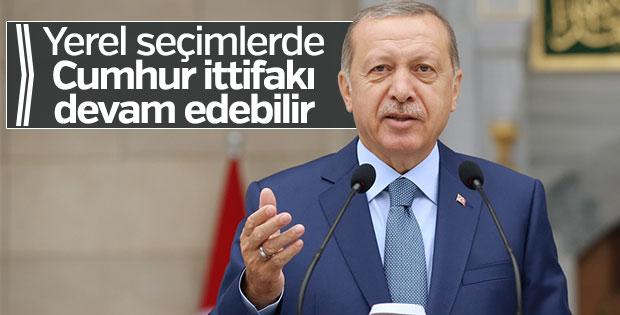 Erdoğan'dan yerel seçimler için ittifak sinyali