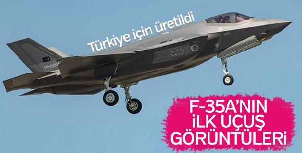 Türkiye'nin F-35A savaş uçağının ilk uçuş görüntüleri