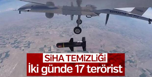 İki günde 17 terörist öldürüldü
