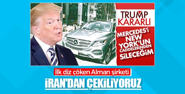 Mercedes İran'la faaliyetleri durdurdu