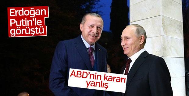 Erdoğan ABD'nin kararını Putin ile görüştü