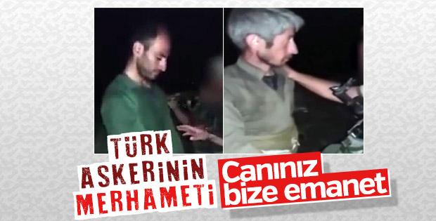 Mehmetçiğin merhameti, yakaladığı teröristi sakinleştirdi