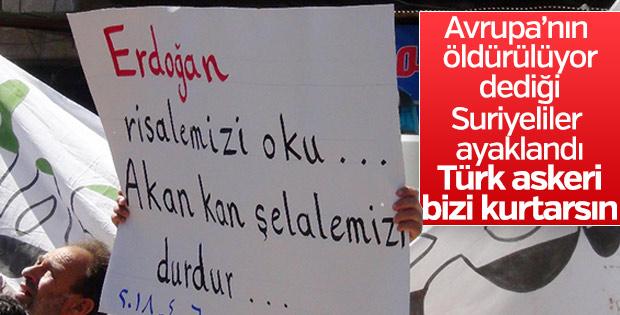 İdlib halkı Cumhurbaşkanı Erdoğan'a seslendi