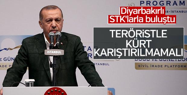 Erdoğan: Teröristleri Kürt olarak algılamayın
