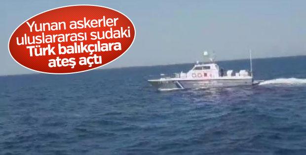 Yunan askerleri tarafından Türk balıkçılarına taciz ateşi