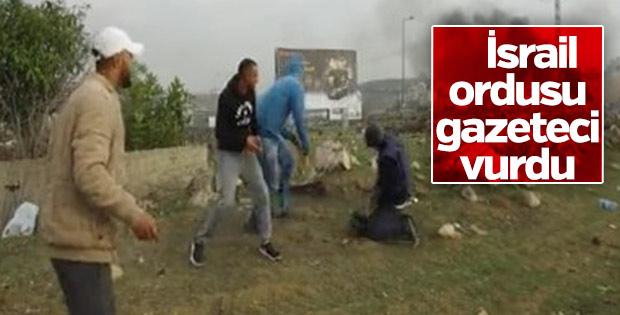 İsrail ordusu gazeteci vurdu