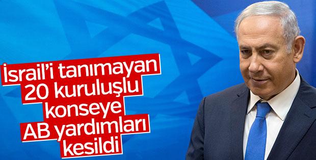 AB İsrail'i tanımayan kuruluştan desteğini çekti