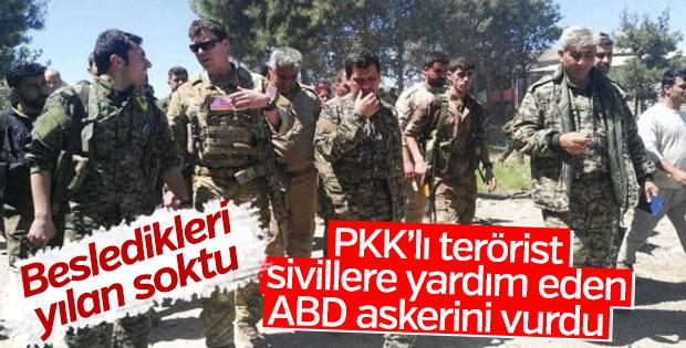 PKK'lı terörist ABD askerini vurdu