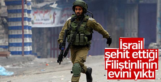 İsrail şehit ettiği Filistinlinin evini yıktı