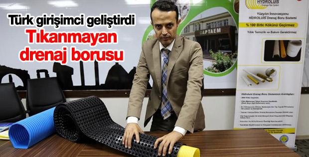 Türk girişimciden tıkanmayan drenaj borusu