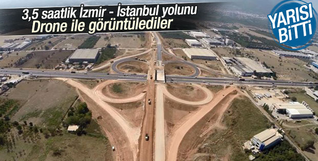 İzmir- İstanbul Otoyolu'nun yüzde 48'i tamamlandı
