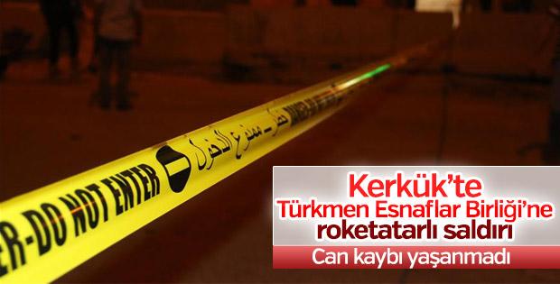 Kerkük'te Türkmen Esnaflar Birliği'ne saldırı