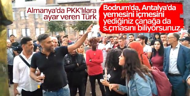 Almanya'da terör yandaşlarına ayar veren Türk