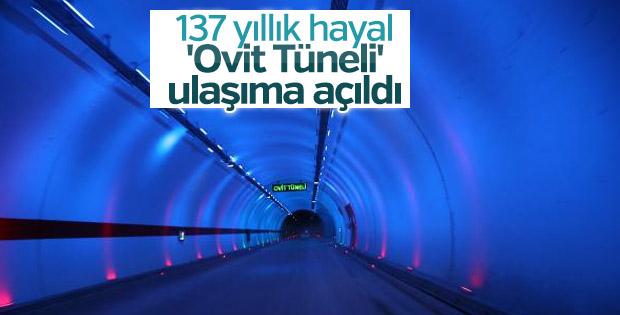 137 yıllık hayaldi: Ovit Tüneli ulaşıma açıldı