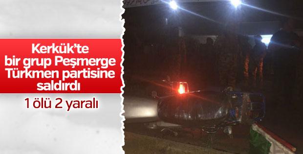 Kerkük'te Peşmerge Türk partisine saldırdı