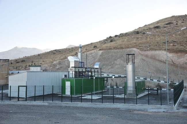 Malatya'da metan gazından elektrik üretildi