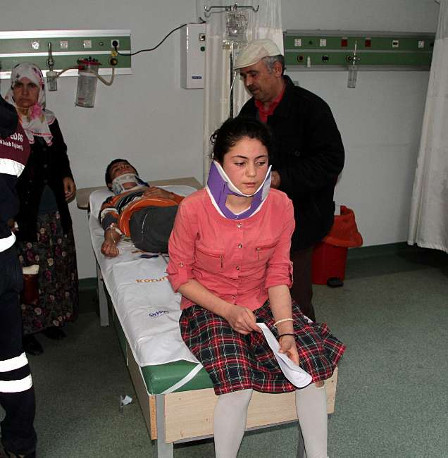Samsun'da trafik kazası : 14 yaralı