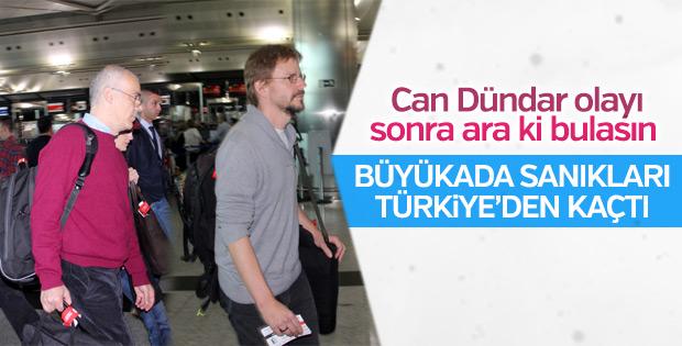Büyükada davasında tahliye edilenler Türkiye'den ayrıldı