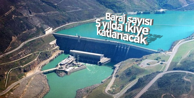 Baraj sayısı 5 yılda ikiye katlanacak