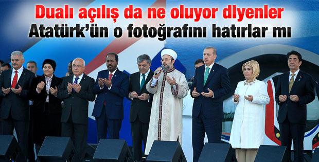 Marmaray'ın duayla açılması eleştiren de çıktı